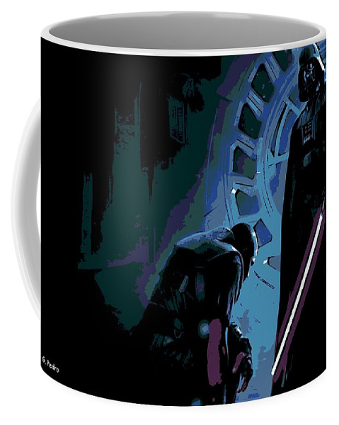 Darth Vader Coffee Mug featuring the photograph Bow To The Dark Side by George Pedro