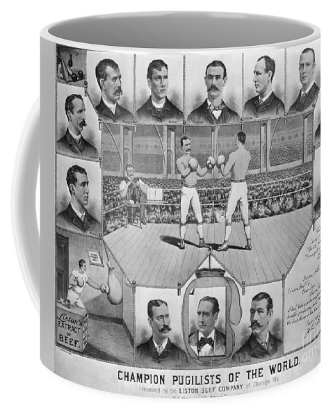 1885 Coffee Mug featuring the photograph Boxing: American Champions by Granger
