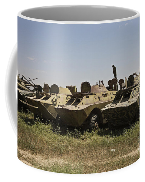 Vehicle Coffee Mug featuring the photograph Brdm-2 Combat Reconnaissancepatrol by Terry Moore
