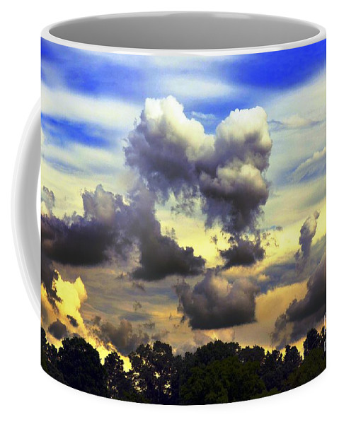 Break Coffee Mug featuring the photograph Break In The Clouds by Maria Urso
