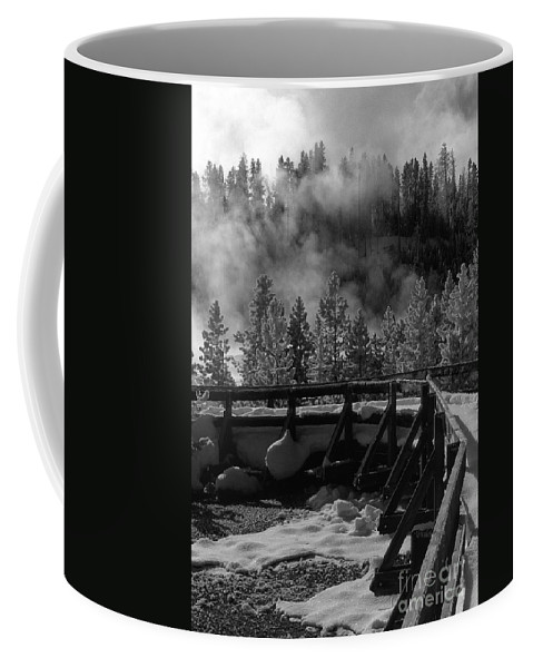 Sandra Bronstein Coffee Mug featuring the photograph Bridge In Mud Volcano Area by Sandra Bronstein
