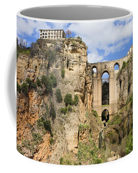 New Coffee Mug featuring the photograph Bridge In Ronda by Artur Bogacki