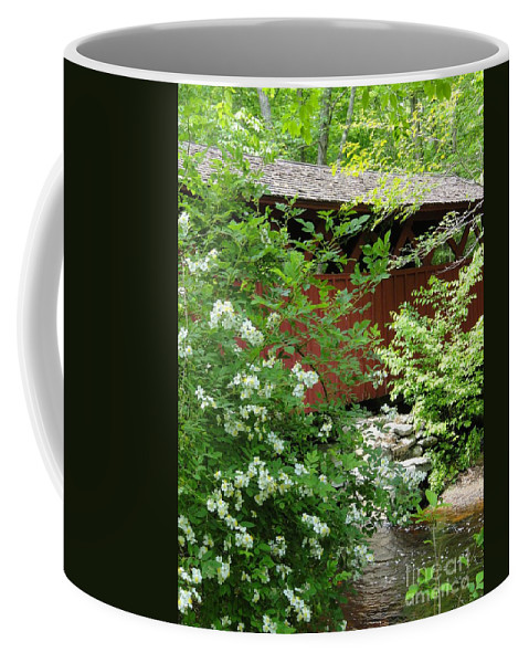 Outdoors Coffee Mug featuring the photograph Bridge Of Chatfield Hollow by Meandering Photography
