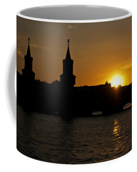 Berlin Coffee Mug featuring the photograph Bridge Sunset by Nathan Wright