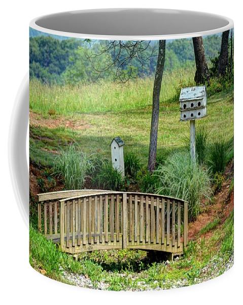 Birdhouse Coffee Mug featuring the photograph Bridge To Nowhere by Debbi Granruth