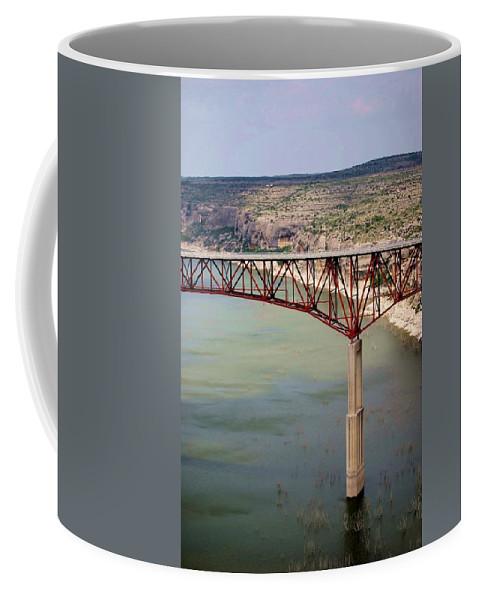 Bridge Coffee Mug featuring the photograph Bridging The Canyon by Judy Hall-Folde