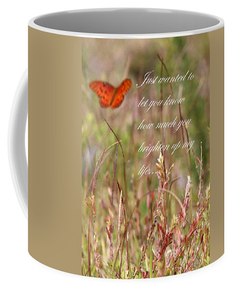 Card Coffee Mug featuring the photograph Brighten Up My Life Card by Travis Truelove