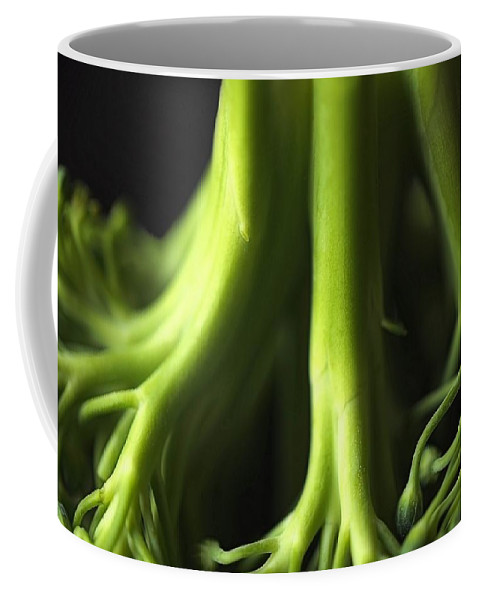 Garden Coffee Mug featuring the photograph Broccoli Abstract by Jenny Hudson