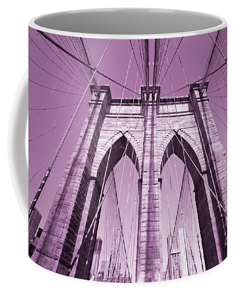 America Coffee Mug featuring the photograph Brooklyn Bridge by Luciano Mortula