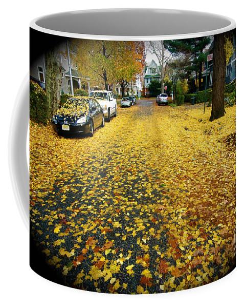 Fall Leaves Coffee Mug featuring the photograph Brooklyn New York by Mark Gilman