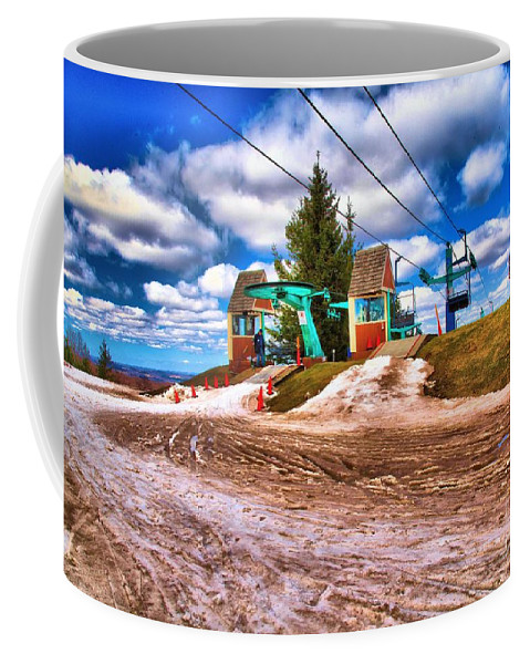 Skiing Coffee Mug featuring the photograph Brown Spring by Adam Jewell
