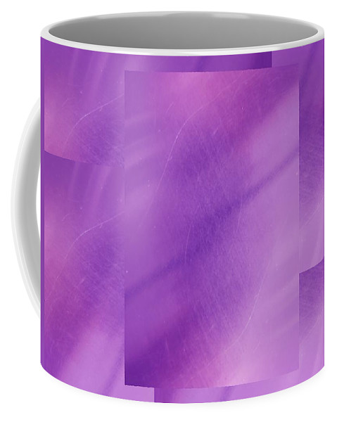 Abstract Coffee Mug featuring the digital art Brushed Purple Violet 1 by Tim Allen