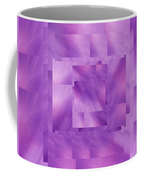 Abstract Coffee Mug featuring the digital art Brushed Purple Violet 10 by Tim Allen