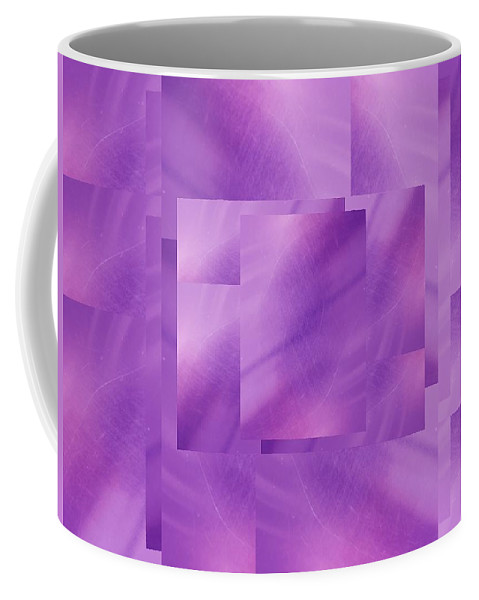 Abstract Coffee Mug featuring the digital art Brushed Purple Violet 2 by Tim Allen