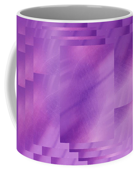 Abstract Coffee Mug featuring the digital art Brushed Purple Violet 7 by Tim Allen