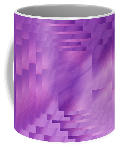 Abstract Coffee Mug featuring the digital art Brushed Purple Violet 8 by Tim Allen