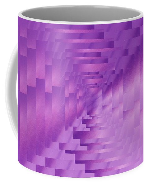 Abstract Coffee Mug featuring the digital art Brushed Purple Violet 9 by Tim Allen