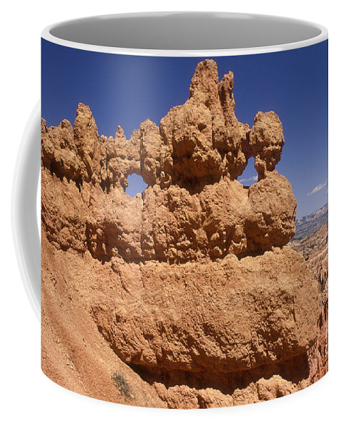 Bryce Canyon Coffee Mug featuring the photograph Bryce Canyon - Mask Formation by Sandra Bronstein