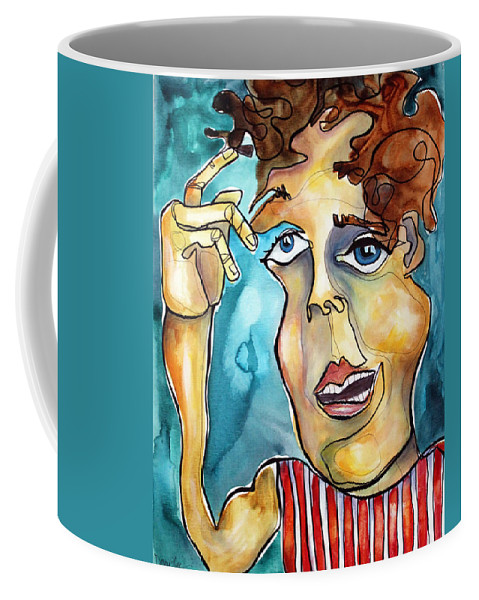 Portrait Coffee Mug featuring the painting Bucko by Darcy Lee Saxton