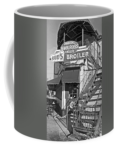 Photography Coffee Mug featuring the photograph Bud'd Broiler New Orleans-bw by Kathleen K Parker