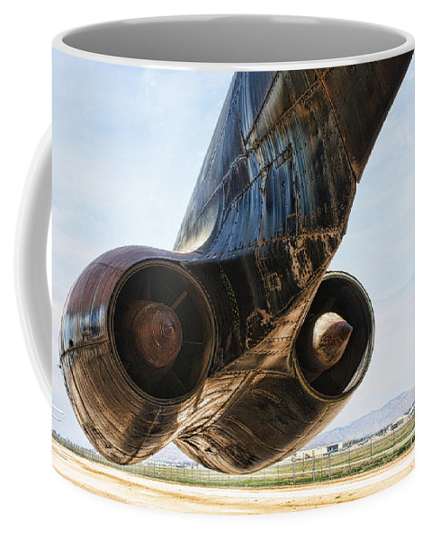 Boeing B-52 Stratofortress Coffee Mug featuring the photograph Buff Power by Tommy Anderson