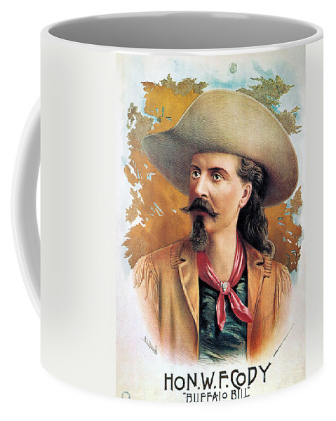 1888 Coffee Mug featuring the photograph Buffalo Bill Cody, C1888 by Granger