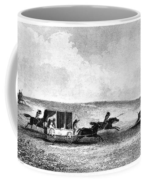 1841 Coffee Mug featuring the photograph Buffalo Hunt, 1841 by Granger