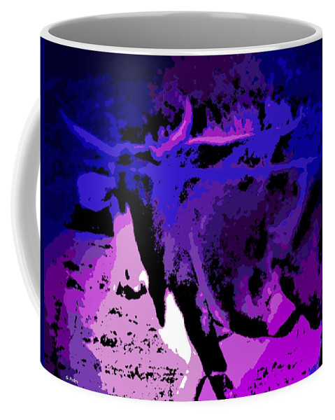 Bull Coffee Mug featuring the photograph Bull On The Move by George Pedro
