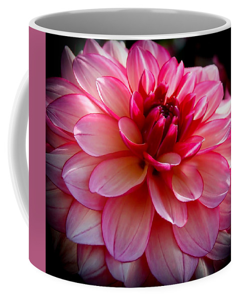 Dahlia Coffee Mug featuring the photograph Burgundy Pedals by Athena Mckinzie
