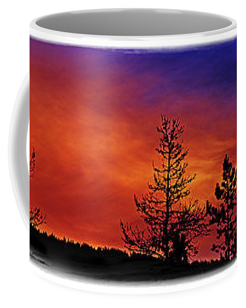 Colors Coffee Mug featuring the photograph Burning Sunrise by Janie Johnson