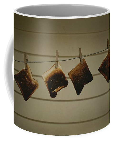 Pacific Islands Coffee Mug featuring the photograph Burnt Toast Hanging On Clothesline by Todd Gipstein