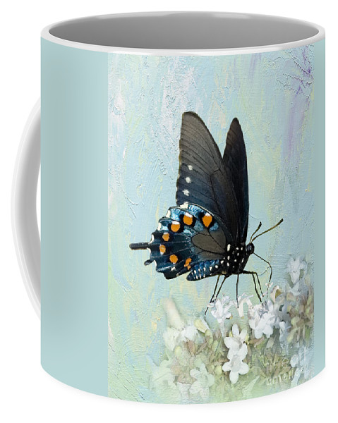 Pipevine Swallowtail Coffee Mug featuring the photograph Butterfly Candy by Betty LaRue