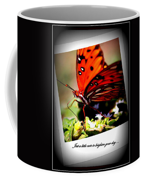 Note Coffee Mug featuring the photograph Butterfly Note Card by Travis Truelove