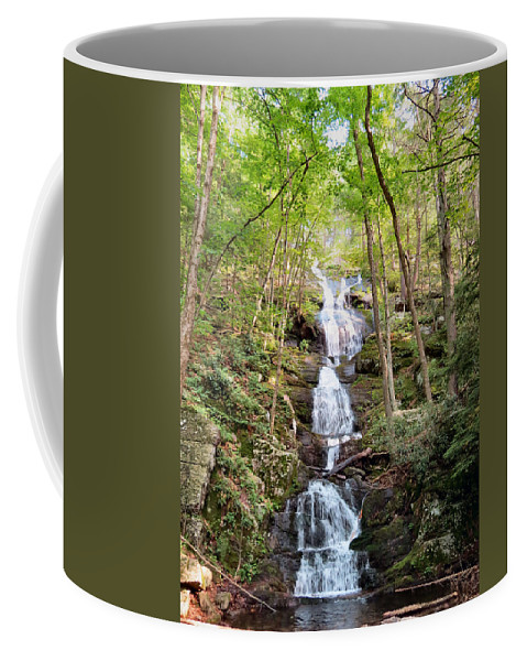 Stream Coffee Mug featuring the photograph Buttermilk Falls by Art Dingo