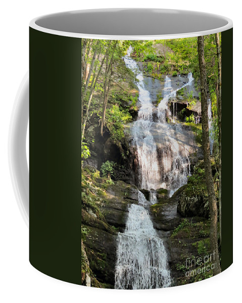 Stream Coffee Mug featuring the photograph Buttermilk Falls Nj by Art Dingo