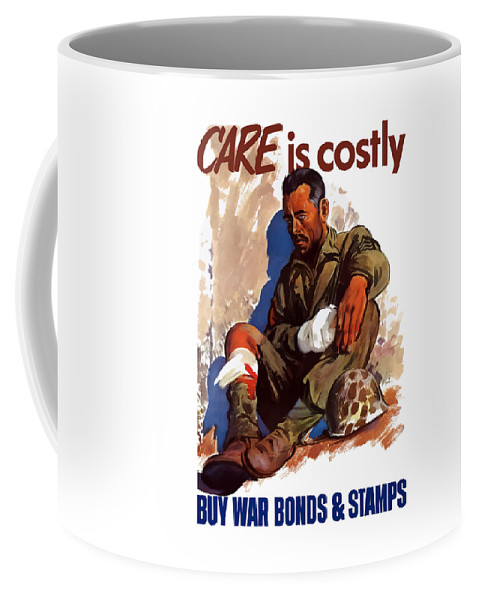 War Bonds Coffee Mug featuring the painting Buy War Bonds And Stamps by War Is Hell Store