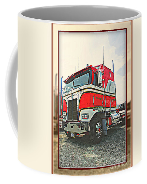 Trucks Coffee Mug featuring the photograph Cab-over Kenworth by Randy Harris