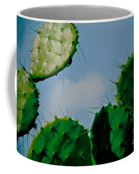 Cactus Coffee Mug featuring the photograph Cacti Junkie by Kim Henderson