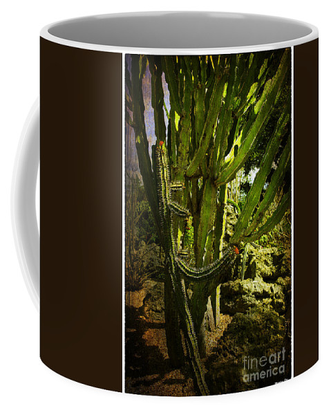Cactus Coffee Mug featuring the photograph Cactus Flower by Madeline Ellis