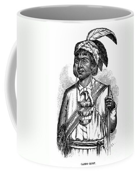 1879 Coffee Mug featuring the photograph Caddo Chief, 1879 by Granger