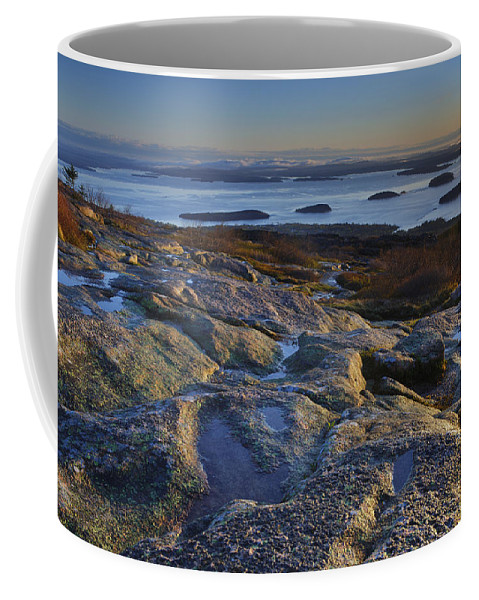 Maine Coffee Mug featuring the photograph Cadillac Mountain And Frenchman's Bay by Rick Berk