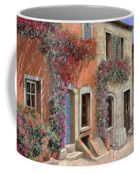 Caffe Coffee Mug featuring the painting Caffe Sulla Discesa by Guido Borelli