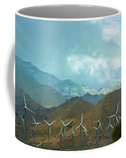 Snow Coffee Mug featuring the photograph California Desert In Winter by Heidi Smith