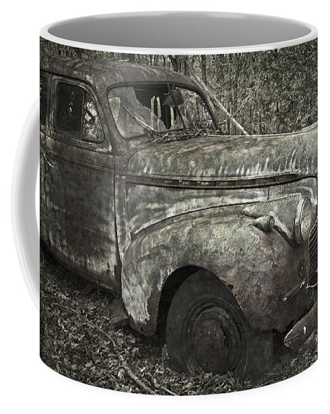 Rustbuckets Coffee Mug featuring the photograph Camouflage Classic Car by John Stephens