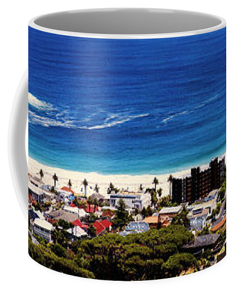 Camps Bay Coffee Mug featuring the photograph Camps Bay Beach by Fabrizio Troiani