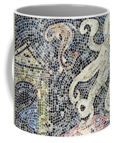 Mosaic Coffee Mug featuring the painting Can You See Me Know by Cynthia Amaral