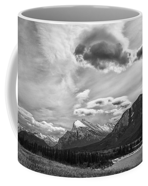 Alberta Coffee Mug featuring the photograph Canadian Rockies 12951 by Guy Whiteley