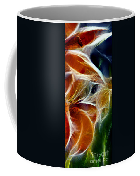 Candy Lily Coffee Mug featuring the digital art Candy Lily Fractal Panel 3 by Peter Piatt