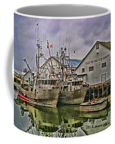 Boats Coffee Mug featuring the photograph Cannery Hdr by Randy Harris