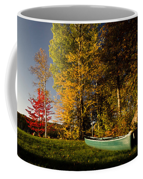 Fall Coffee Mug featuring the photograph Canoe by Cale Best
